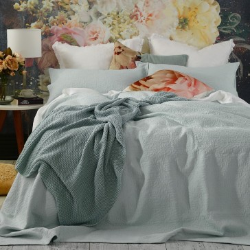 Nina Bedcover Set Duckegg
