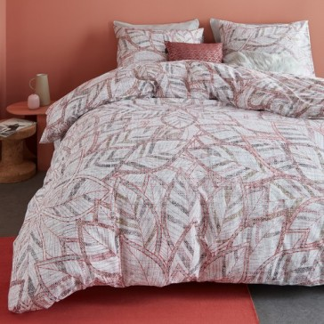 October Leaf Nude Cotton Percale Quilt Cover Set by Bedding House