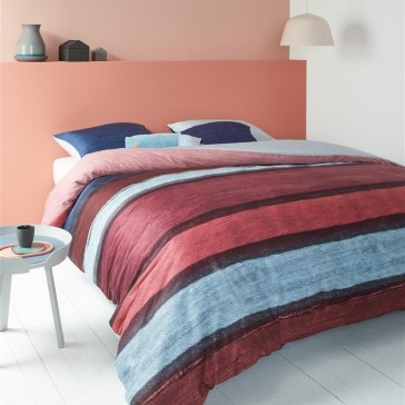 Oilily Rustic Lines Dark Red Quilt Cover Set by Bedding House