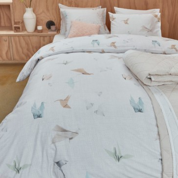 Origami Birds Cotton Percale Quilt Cover Set by Bedding House