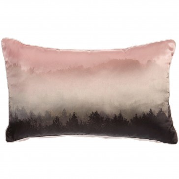 Pastel Misty Forest Satin Cushion by Bedding House