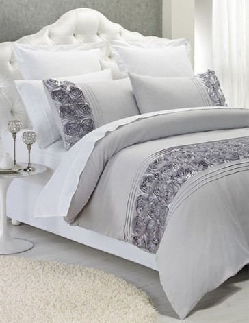 Palazzo Silver Double Quilt Cover Set by Phase 2