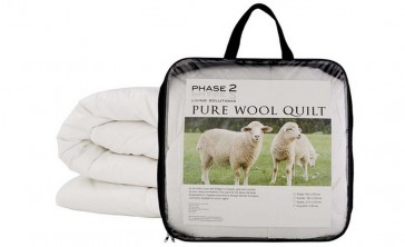600gsm Pure Wool Queen Quilt by Phase 2