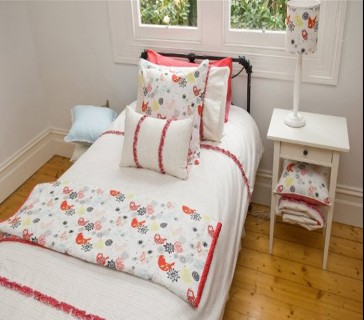 Spring Time King Single Quilt Cover Set by Lullaby Linen