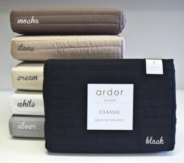 King Single Quilted Valance by Ardor
