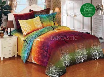 Rainbow Tree Quilt Cover Set by Fabric Fantastic