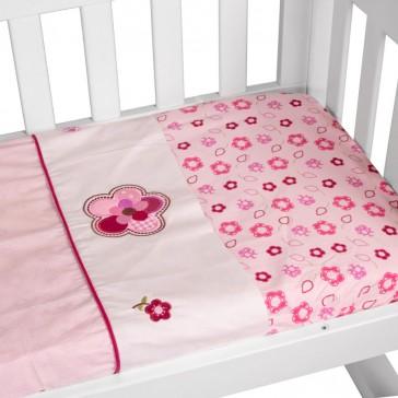 Raspberry Garden 3pce Cradle Sheet Set by Amani Bebe