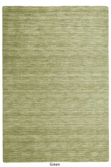 Roma Green Twisted Wool Rug by Rug Republic