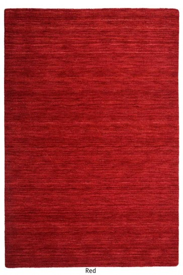 Roma Red Twisted Wool Rug by Rug Republic