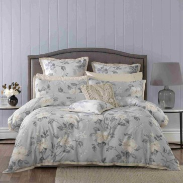 Rosetta Grey Quilt Cover Set