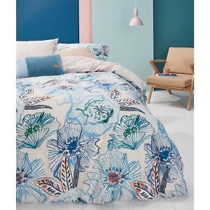 Oilily Rose Dust Blue Green Quilt Cover Set by Bedding House