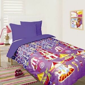 Fun at the Fair Blue Double Quilt Cover by Happy Kids