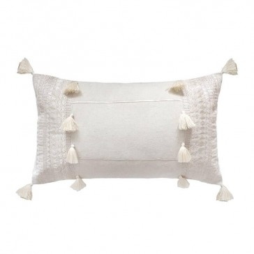 Seri Cushion Ivory by Bambury