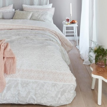 Lacy Soft Pink Cotton Percale Quilt Cover Set by Bedding House