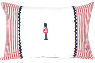 Grand Old Duke Toy Soldier Applique Cushion by Lullaby Linen