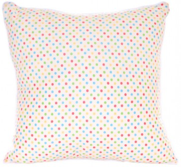 Spring Time Multi Dot Cushion by Lullaby Linen