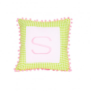 Flowerpot Square Letter Cushion by Lullaby Linen