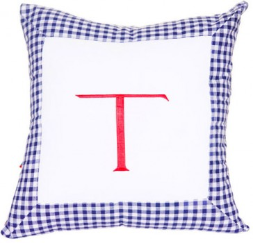 Grand Old Duke Square Letter Cushion by Lullaby Linen