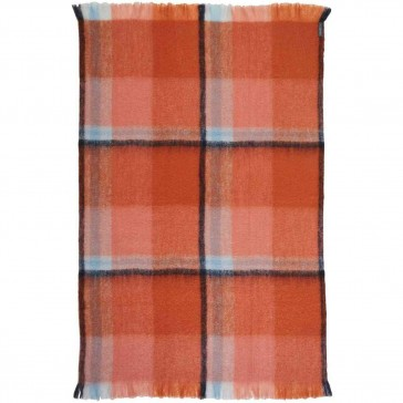 Mohair Ginger Throw Rug by St Albans