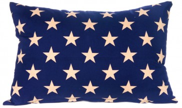 Stars & Stripes Beige Star Cushion by Lullaby Linen