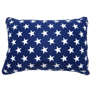 Stars & Stripes Navy Star Cushion by Lullaby Linen