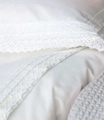 Tabatha White Queen Sheet Set by MM Linen