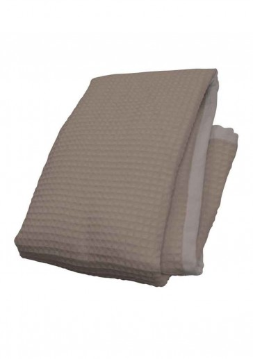 Waffle Taupe Throw by MM Linen