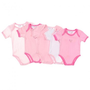 Poppy & Hydes Infants Cotton Knitted Bodysuit 5PK by Babyhood