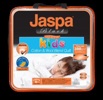 Kids Natural Cotton Fibre Double Quilt by Jaspa Black