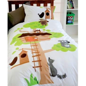 Tree House Quilt Cover Set by Happy Kids