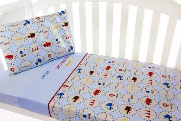 Under Construction 3pce Cradle Sheet Set by Amani Bebe