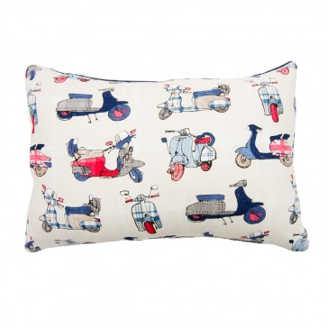 Vespa Breakfast Cushion by Lullaby Linen