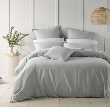 Silver Wellington Quilt Cover Set by Bianca