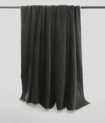 Wellshead Queen Bed Charcoal Blanket by MM linen