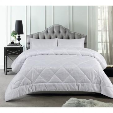 White Waffle Stripe 3 Piece Comforter Set by Accessorize
