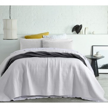 Zane White Washed Queen Coverlet by Accessorize
