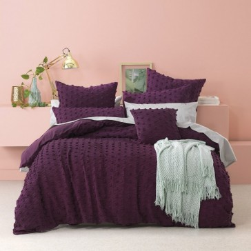Xenia Prune Quilt Cover Set by Bianca