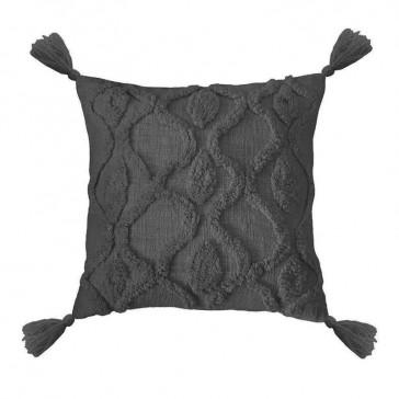 Zoe Cushion Charcoal by Bambury