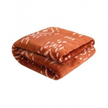 Zuni Single Ultraplush Blanket Cayenne by Bambury