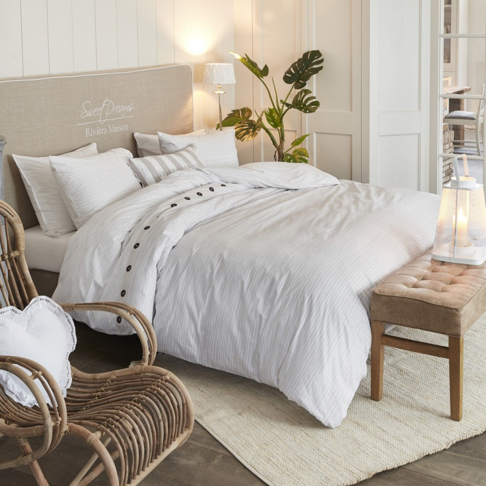 Riviera Maison Bed.Sylt Stripe Sand Riviera Maison Quilt Cover Set By Bedding House