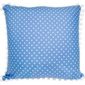 BlueBird Coin Dot Cushion by Lullaby Linen