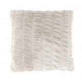 Ripple Faux Fur Cushion by Bambury