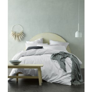 White Crinkle Cotton Quilt Cover Set by Accessorize