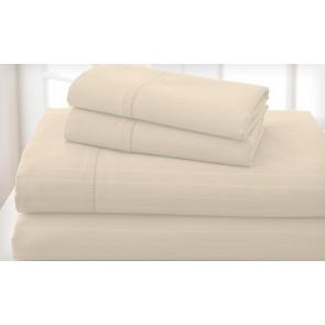 Pebble 1000TC Cotton Rich Cambridge Stripe Sheet Set & Quilt Cover Set by Royal Living