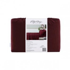 Merlot 100% French Flax Linen Sheet Set by Vintage Design
