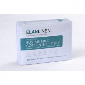 1200 TC Organic Cotton White Bed Sheet Set by Elan Linen