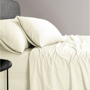 1200 TC Organic Cotton Cream Bed Sheet Set by Elan Linen