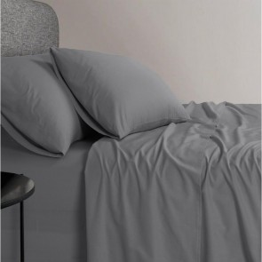1200 TC Organic Cotton Grey Bed Sheet Set by Elan Linen