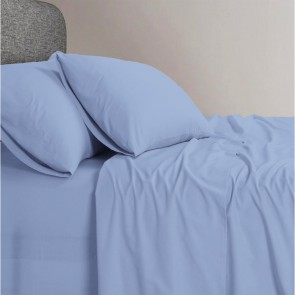 1200 TC Organic Cotton Light Blue Bed Sheet Set by Elan Linen