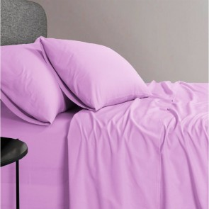 1200 TC Organic Cotton Pink Bed Sheet Set by Elan Linen